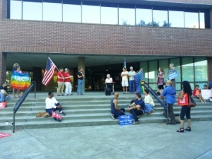 Rally at front of Vallejo City Hall